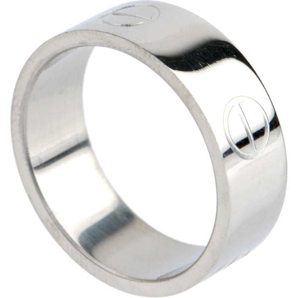 316L Stainless Steel BOLT ENGRAVED Ring