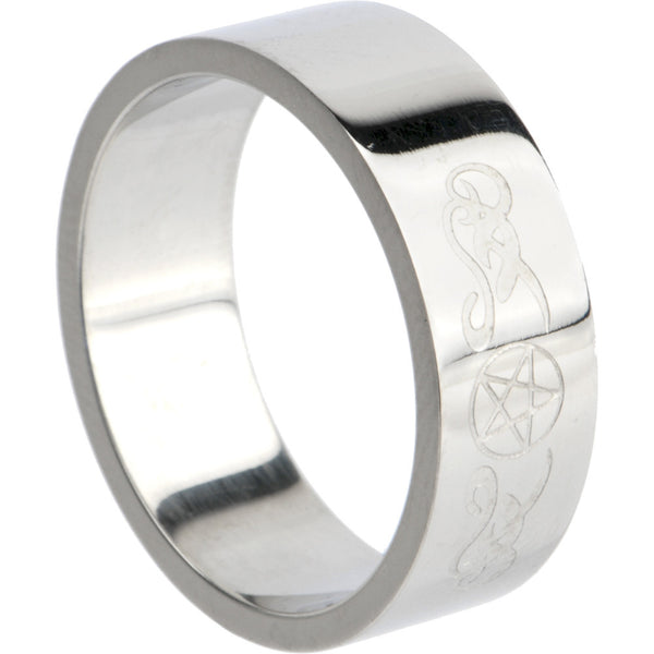 316L Stainless Steel TRIBAL SYMBOL STAR Ring