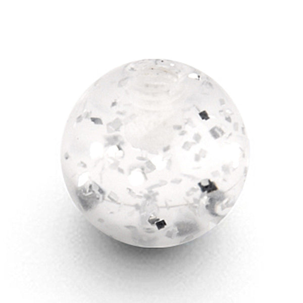 Clear Glitter UV Replacement Ball - 6mm
