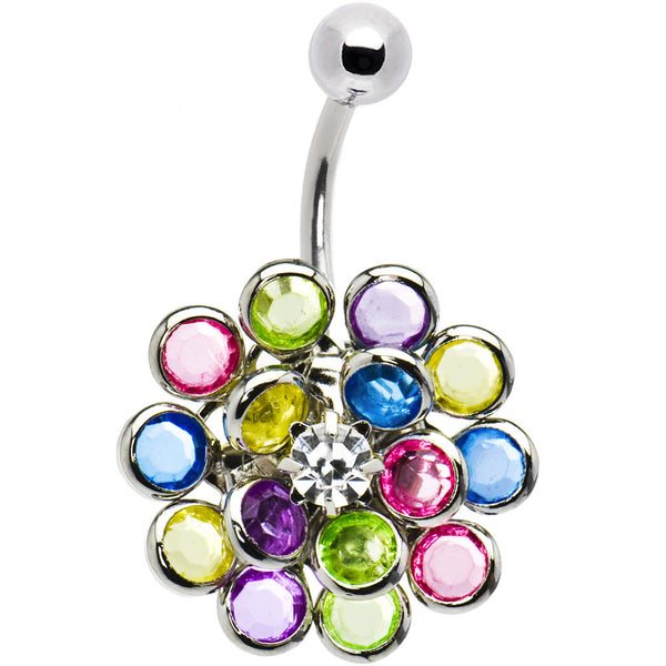 Crystalline Gem Multi Burst Belly Ring