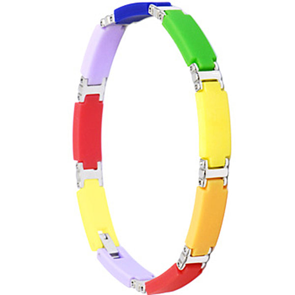 Stainless Steel 8 RAINBOW Bracelet