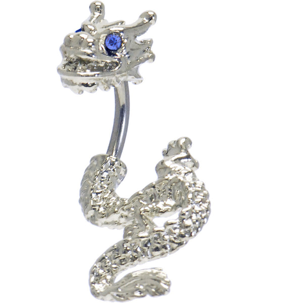 Sapphire Cubic Zirconia Detailed Dragon Belly Ring