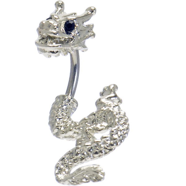 Black Cubic Zirconia Detailed Dragon Belly Ring
