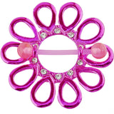 Bioplast Pink Jeweled Flower Nipple Shield