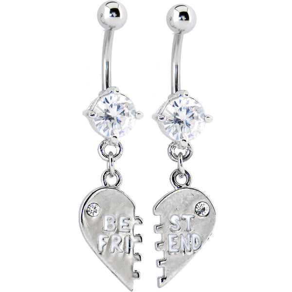 Clear Cubic Zirconia Best Friend Belly Rings