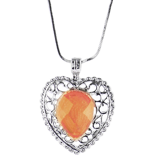 Silver VICTORIAN HEART Necklace