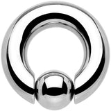 0 Gauge steel BCR Captive Ring - 5/8 12mm Ball