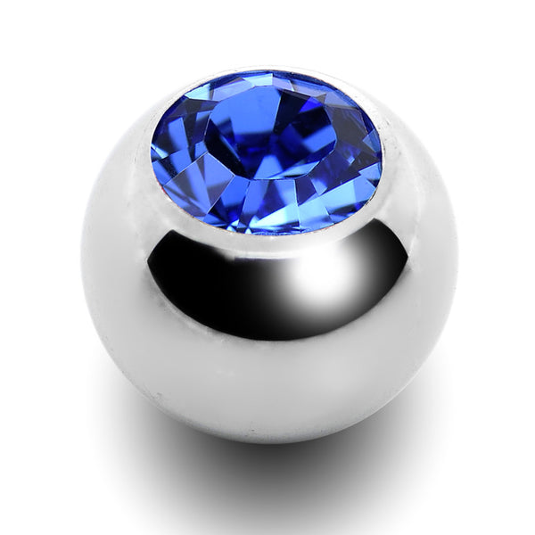 5mm Sapphire Crystal Replacement Ball Created with Swarovski Crystals