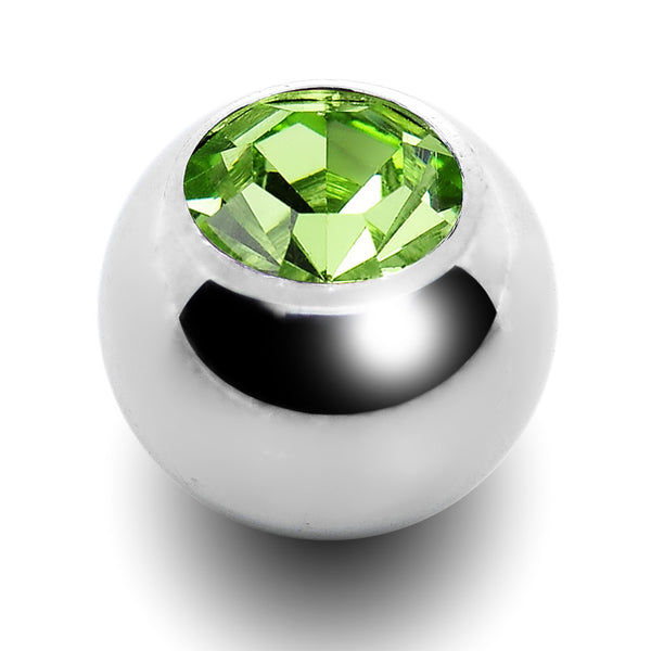 5mm Peridot Crystal Replacement Ball Created with Swarovski Crystals