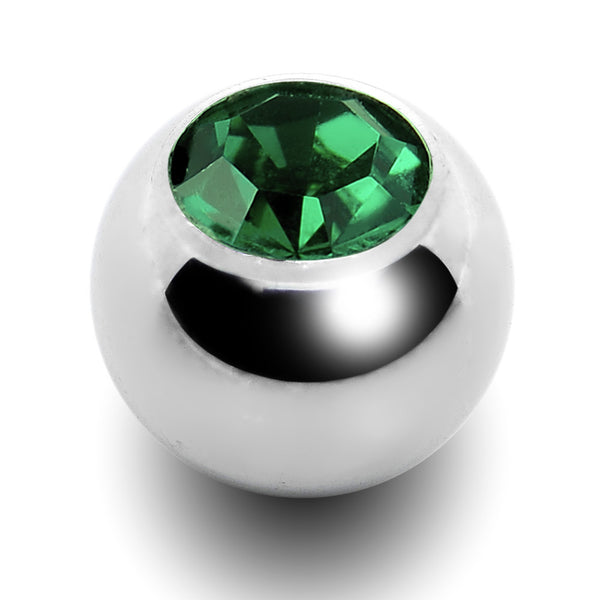 5mm Emerald Crystal Replacement Ball Created with Swarovski Crystals
