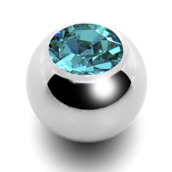 5mm Blue Zircon Replacement Ball Created with Swarovski Crystals