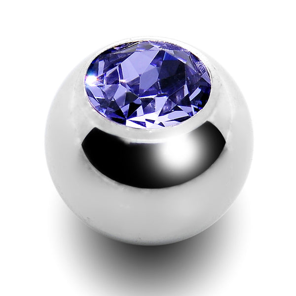 5mm Tanzanite Crystal Replacement Ball Created with Swarovski Crystals