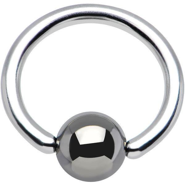 "16 Gauge BCR Hematite Captive Ring 5/16"" 4mm"