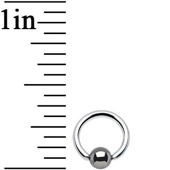 18 Gauge BCR Hematite Captive Ring 1/4 3mm