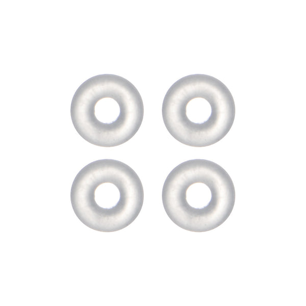 8 Gauge Clear Rubber O-Ring 4-Pack