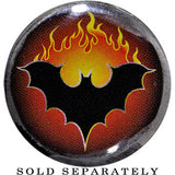 5/8 Gauge FLAMING BAT Organic Horn Plug