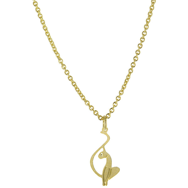 Gold Toned Hanging Logo BABY PHAT Necklace