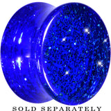 "5/8"" Blue GLITTER Acrylic Saddle Plug"