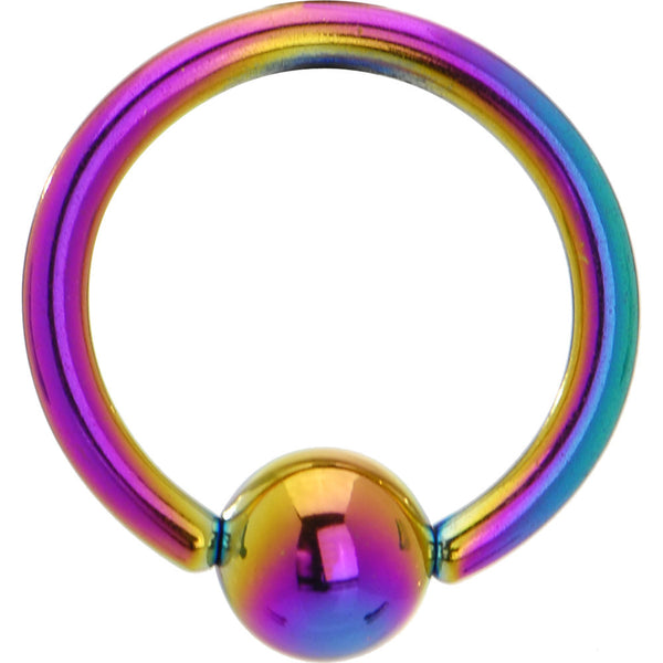14 Gauge Rainbow Anodized Titanium Ball Captive Ring
