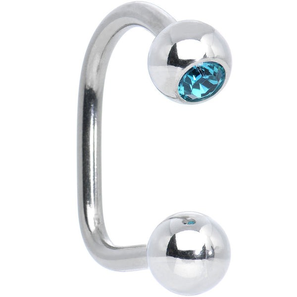 Single Austrian Crystal Blue Zircon Lippy Loop Ball Labret