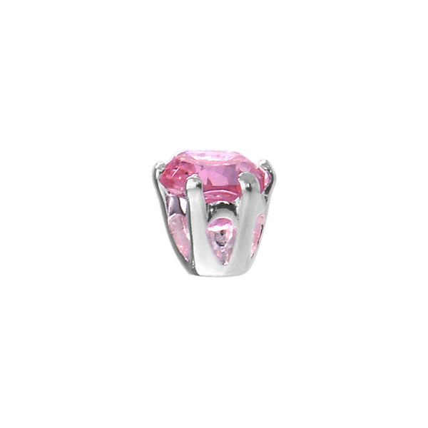 Sterling Silver Pink 925 Cubic Zirconia Replacement Ball