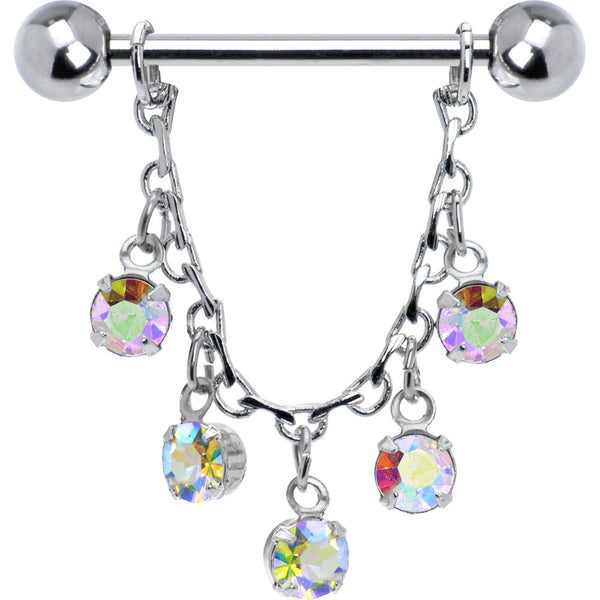 Aurora Jeweled Essence Chain Drop Nipple Ring