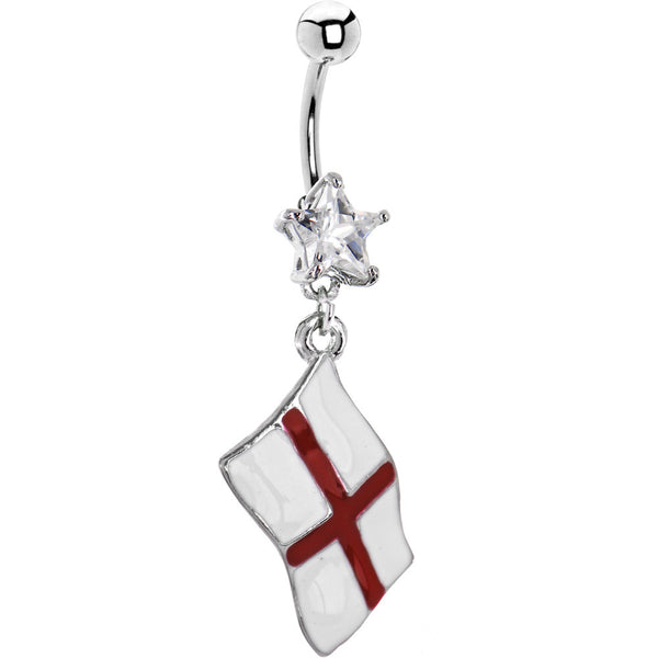 England Flag Dangle Belly Ring