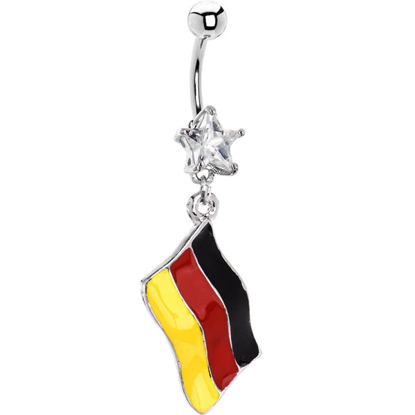 Germany Flag Dangle Belly Ring
