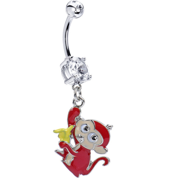 Banana Monkey Belly Ring