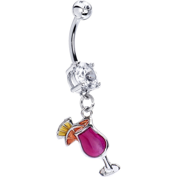 Hurricane Cocktail Belly Ring