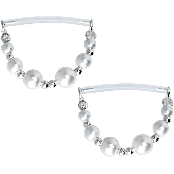 Faux Pearl Invisible Bioplast Nipple Shield Set