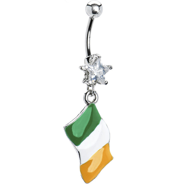 Ireland Flag Dangle Belly Ring