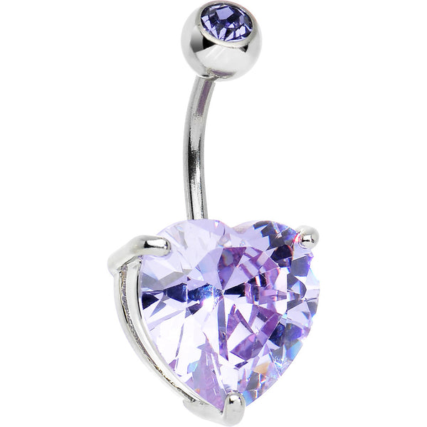 June 14mm Heart Solitaire Birthstone Belly Ring