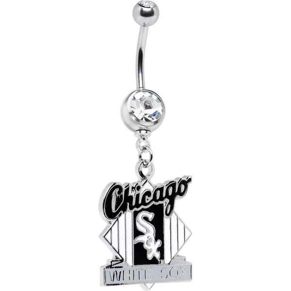 Major League Baseball Double Gem Belly Ring - Chicago White Sox