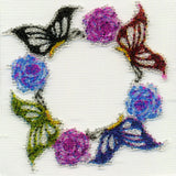 Floral Butterfly Beaded Sticker Temporary Tattoo