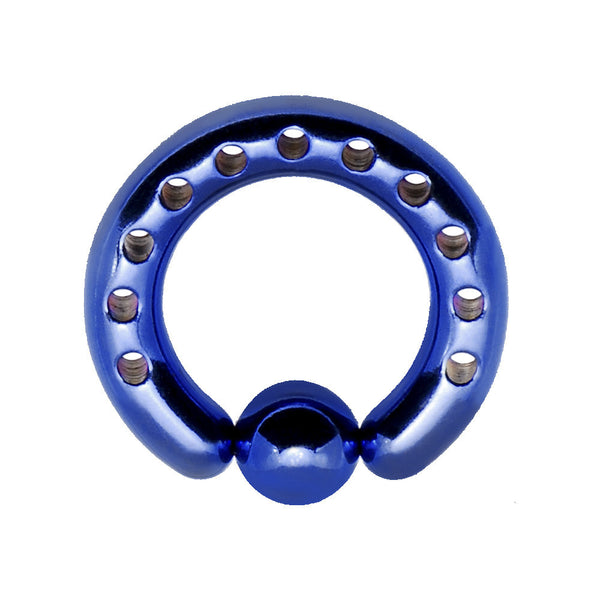 6 Gauge INDUSTRIAL PUNCHED Electric Blue TITANIUM BCR