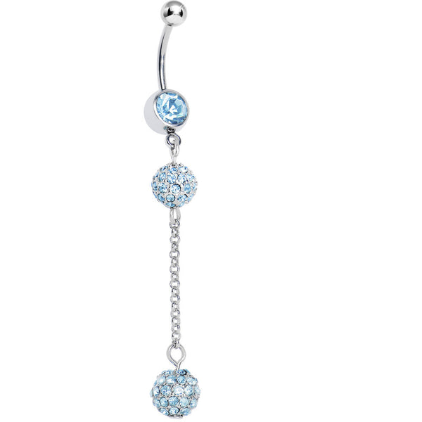 Aqua Gem Dazzling Drop Belly Ring