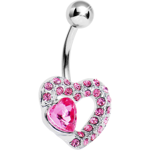 Pink Gem Desire of the Heart Belly Ring