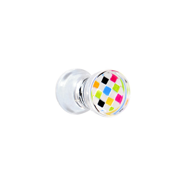4 Gauge Color Checker Inlayed Saddle Plug