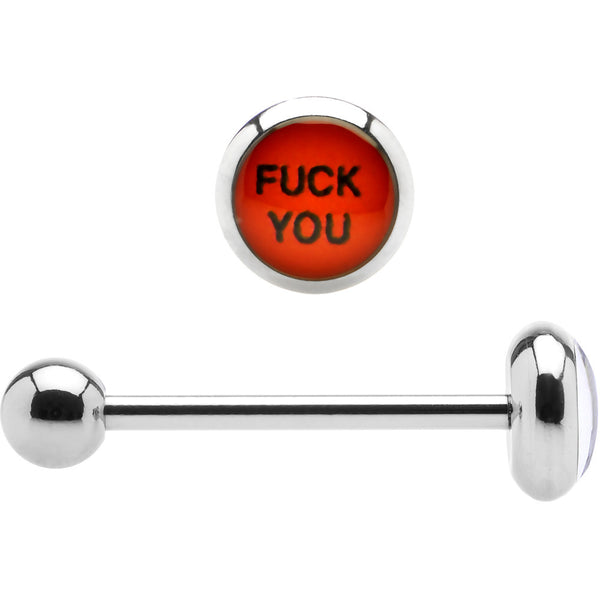 Stainless Steel F*ck You Barbell Tongue Ring