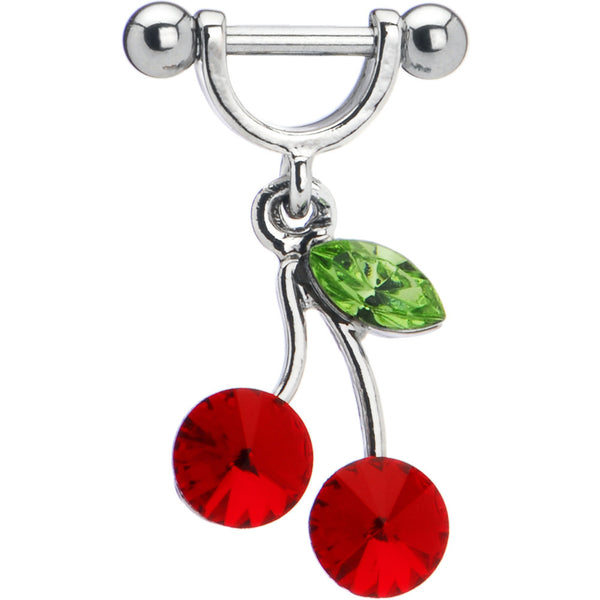 Ruby Red Gem Cherry Helix Cartilage Earring