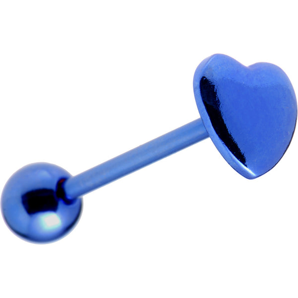 Blue Heart Anodized Titanium Barbell