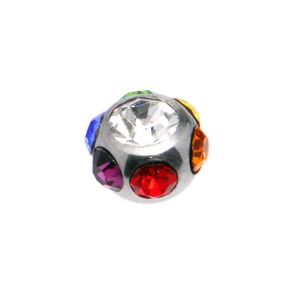 6mm Multi Colored Gem Replacement Ball