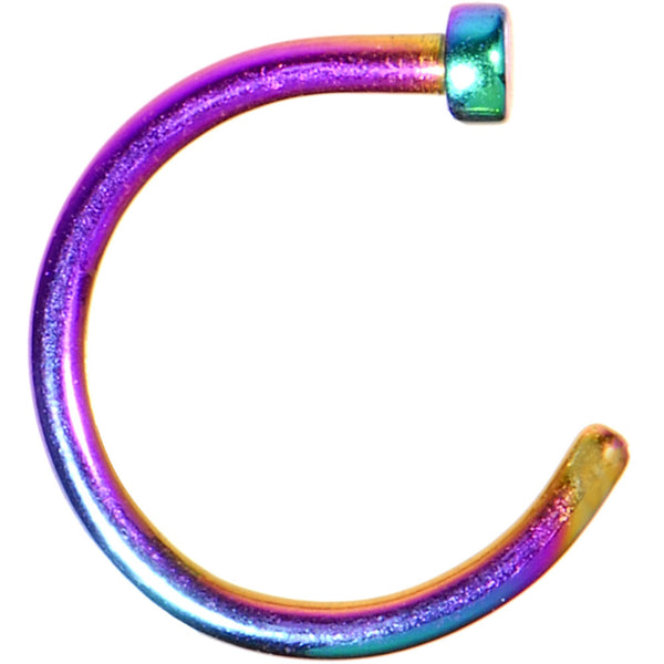 "18 Gauge 5/16"" Rainbow Anodized Titanium Nose Hoop"