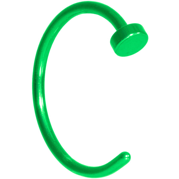20 Gauge 3/8 Green Anodized Titanium Nose Hoop