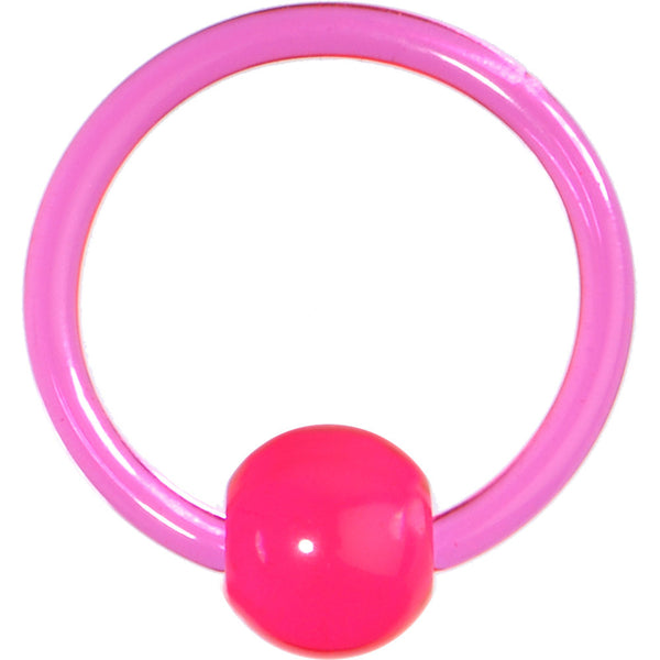 16 Gauge Pink Acrylic Ball Captive Ring