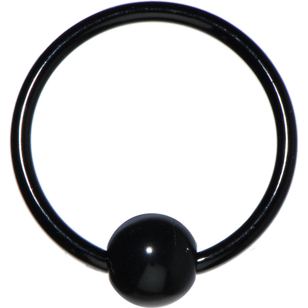 16 Gauge Black Acrylic Ball Captive Ring