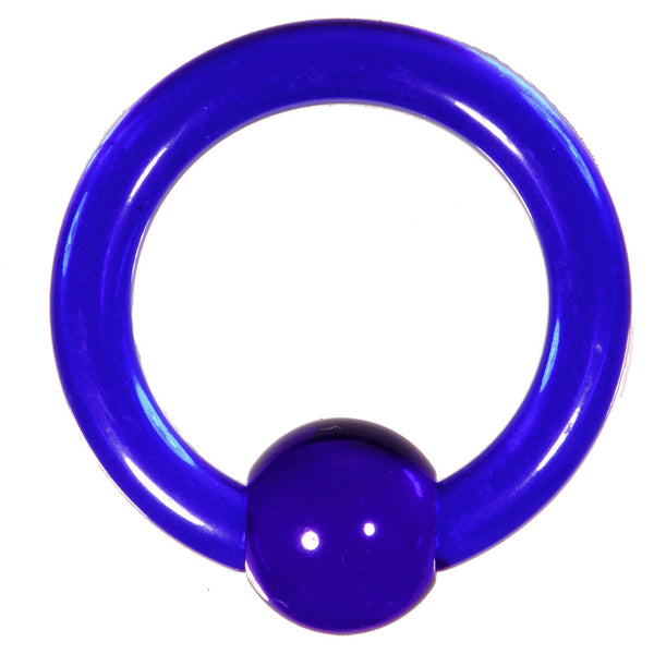 8 Gauge Dark Blue Acrylic Ball Captive Ring