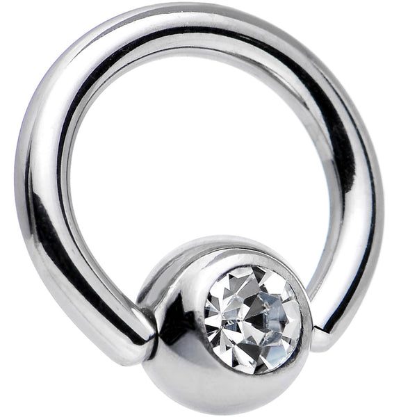 14 Gauge 5/16 Clear Captive Ring Created with Swarovski Crystals