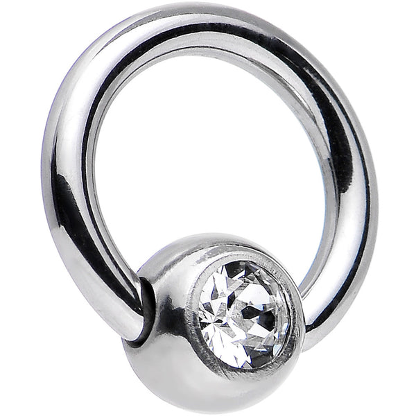 "16 Gauge 1/4"" Crystal BCR Captive Ring Created with Swarovski Crystals"